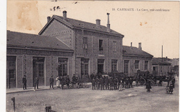 CPA Animée (81)  CARMAUX  La Gare Vue Extérieure - Carmaux