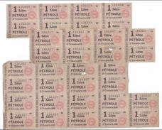 Libération/Tickets De Rationnement/3  Plaques De  Tickets/1 Litre Pétrole /1949         OL97 - Documents