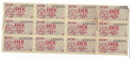 Libération/Tickets De Rationnement/1 Plaque De  Tickets/10 Litres Carburant Auto / Décembre 1949         OL98 - Documents