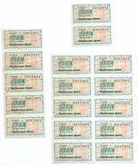 Libération/Tickets De Rationnement/17 Tickets/10 Litres Carburant Auto / Années 1945-1950       OL99 - Documents