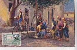 Carte Postale Constantinople (Turquie)  Café Turc  Cachet 1914     Henry's Post Card  N°3 - Turkey