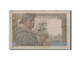 France, 10 Francs Mineur, 1943, KM:99b, Fayette:8.7, 1943-01-14, TB - 1871-1952 Circulated During XXth