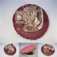 ~ SCULPTURE TETE DE CHIEN # Animal Sculpteur Statue Art Artiste Art Populaire - Wood