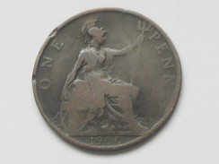 Grande-Bretagne 1 One Penny 1900  Victoria Dei Gra Britt Regina Fid   **** EN ACHAT IMMEDIAT **** Très Belle Monnaie . - 1902-1971 : Monete Post-Vittoriane