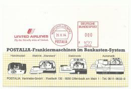 EMA Spécimen Postalia 1984 - UNITED AIRLINES - Airplanes