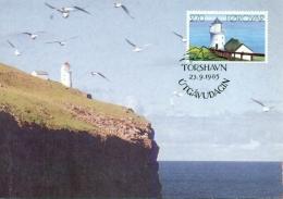 CM-Carte Maximum Card #1985-Foroyar-Faroé-Färöer #Architecture # Phare,Leuchtturm,Lighthouse #Torshavn - Fari