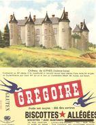 Buvard Biscottes Gregoire De  Luynes Indre Et Loire - Biscottes