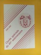 4459 - Moto Club Glanois  40e Anniversaire 1948-1988 Cépage Inconnu Fribourg Suisse Petite étiquette - Etiquettes