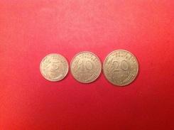 5C 10C 20C Marianne1967  (TTB) - Munten & Bankbiljetten