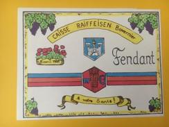 4460 - Caisse Raiffeisen Bovernier Valais Suisse Fendant & Dôle 2 étiquettes - Etiquettes