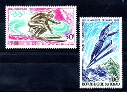 EDY 639 - CIAD TCHAD 1968 , Due Valori Integri ***  Olimpiadi Grenoble - Inverno1968: Grenoble