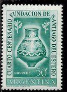 ARGENTINA 1953 SANTIAGO DEL ESTERO INDIAN FUNERAL URN CENT. 50c MNH - Nuovi