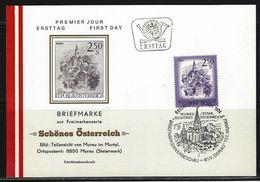 ÖSTERREICH - FDC Mi-Nr. 1441 Schönes Österreich Stempel MURAU - Postkarte (1) - FDC