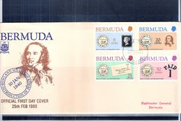 FDC Bermuda - 1980 - Rowland Hill And The Penny Post - Complete Set - Bermudes