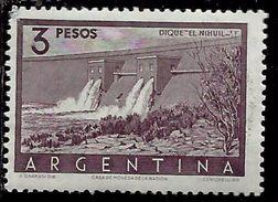ARGENTINA 1954 1959 Nihuil DAM DIQUE DIGA PESOS 3p MNH - Nuovi