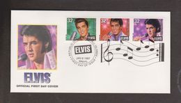 MARSHALL ISLANDS Elvis Presley 1997 FDC And $5 Coin Set - Coin Is Sealed - Marshall Islands