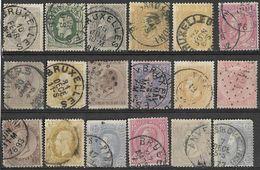_3L378:restje Van 18 Zegels Uit Een Oude Verzameling Met Wat Mindere Keuze...verder Uit Te Zoeken... - Belgique
