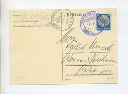 1936 ZEPPELIN LZ129 1. NORDAMERIKAFAHRT KARTE MIT BLAUV. BORDPOSTSTEMPEL SIEGER 407A - Deutschland