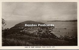 Papua New Guinea, PORT MORESBY, Panorama From Goldie Law (1910s) RPPC - Papua New Guinea
