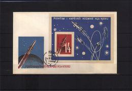 Albania 1962 Space / Raumfahrt Michel Block 10 FDC Scarce - FDC & Gedenkmarken