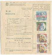 1990 MOD 267 BIFACCIALE CUSTODIA PACCHI  CON CASTELLI L. 150 COPPIA E  100x2+400 +SIRAC.  3000 OTTIMA QUALITÀ (8094) - 6. 1946-.. Repubblica