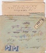 LETTRE SUISSE. 1 VIII 1943. RECOMMANDE RENAN JURA BERNE POUR CANNES PUIS CHARQUEMONT. CENSURE ITALIENNE CORRESPONDANCE - Suisse