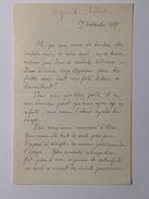 Lettre Signée De André Legrand-Chabrier (1876 - 1949) Datée Du 19 Novembre 1907 - Manuscrits