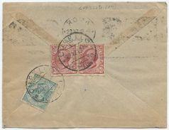 1919 LEONI C. 5 + 10x2 BUSTINA DA CUPELLO (CH) 22.12.19  TIMBRO DI ARRIVO OTTIMA QUALITÀ (8118) - 1900-44 Vittorio Emanuele III