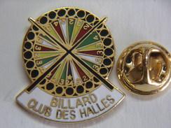 Pin's - Sports - BILLARD - Billard Club Des Halles - Billiards