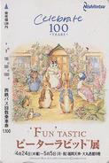 RARE Carte Japon - PIERRE LAPIN ECUREUIL CHAT OIE SOURIS - PETER RABBIT CAT SQUIRREL GOOSE MOUSE Japan Card - 68 - BD