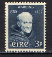 IRLANDA - 1957 -  3° CENTENARIO DELLA MORTE DI PADRE LUKE WADDING - MONACO FRANCESCANO - NUOVO MNH - 1949-... Repubblica D'Irlanda