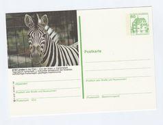 GERMANY Postal STATIONERY CARD Illus ZEBRA Cover Stamps - Stamps