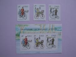 1991  Irlande Yvert 749/51 +BF 8 ** Transport Cycle Scott 824/6 + 826a Michel 746/8 + B 8  SG 795/7 +Ms 798 - Neufs