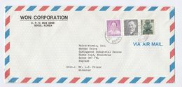 Air Mail SOUTH KOREA Stamps COVER Won Corporation To Baird Atomic GB - Korea, South