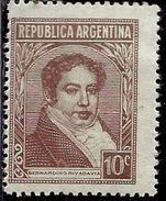 ARGENTINA 1935 1951 Bernardino Rivadavia 1942 CENT. 10c MNH - Nuovi