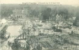 BRUXELLES-EXPOSITION - Incendie 14-15 Août 1910 - Panorama De Bruxelles-Kermesse Après Les Ravages Du Feu - Universal Exhibitions