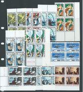 Australian Antarctic Territory 1966 Definitive Scenes Set 11 In MNH Marginal Blocks Of 4 - Australian Antarctic Territory (AAT)