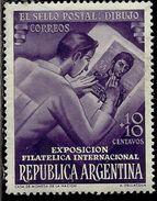 ARGENTINA 1950 Argentine International Philatelic Exhibition STAMP EXPOSITION FILATELICA CENT. 10c + 10 MNH - Nuovi