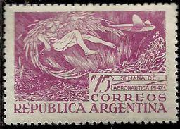 ARGENTINA 1947 AVIATION WEEK SEMANA DE AERONAUTICA CENT. 15c MNH - Nuovi