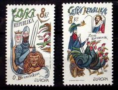 CZECH REPUBLIC #3013-3014.  Europa - Stories & Legends.  Unused, No Gum (**) - Czech Republic