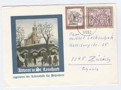 1985 AUSTRIA Illus CHRISTMAS Stamps COVER To Switzerland - Christmas