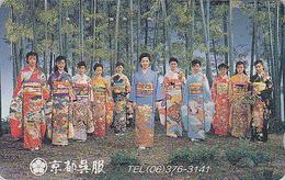 Télécarte Japon / 110-54757 - Art Culture Tradition - GEISHA 11 GEISHAS- Femme Kimono - Japan Phonecard Girl - 2857 - Japan
