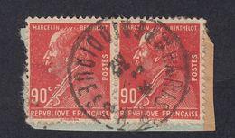 FRANCE Francia Frankreich -  1927 - Due Valori Obliterati, Identici, Uniti Fra Loro Su Frammento Di Carta Yvert 243 - Frankreich