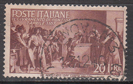ITALY   SCOTT NO. 485      USED     YEAR  1946 - 1946-60: Usados