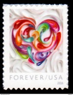 USA, 2016 Scott #5036, Quilled Paper Heart, Forever Single, MNH, VF - United States