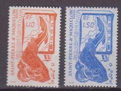 S.P.M.-1986-N°480/481** SERIE COURANTE.LA PECHE - St.Pierre Et Miquelon