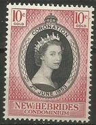 New Hebrides  - 1953 Coronation MLH *   Sc 77 - English Legend