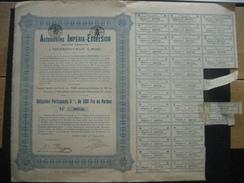 Action 1928 NESSONVAUX - AUTOMOBILES IMPERIA-EXCELSIOR - Obligation De 500 Frs Au Porteur - Automobile