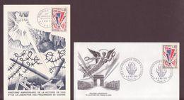 ENVELOPPE  + CARTE 8/5 1965 ANNIVERSAIRE DE LA VICTOIRE REIMS  ET PARIS VOIR PHOTO - FDC
