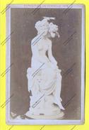 """PARIS EXPOSITION UNIVERSELLE 1878 ANCIENNE PHOTO Papier Sur Carton """" Femme NUE TENTATION D AMOUR """" Statue Marbre Blanc - Photographs"""